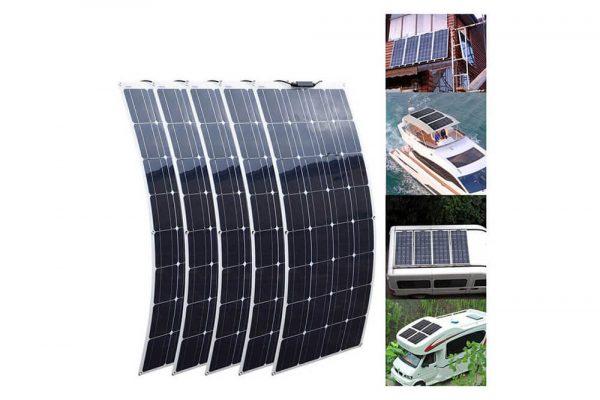 solar 7 24 130 watt sunpower monokrsital yari esnek gunes paneli 2