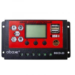 abax bscd 20ah 12 24 volt lcd ekran pwm sarj kontrol cihazi