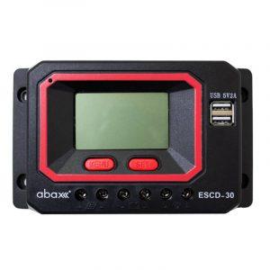 abax escd 30 30ah 12 24 volt lcd ekran pwm sarj kontrol cihazi