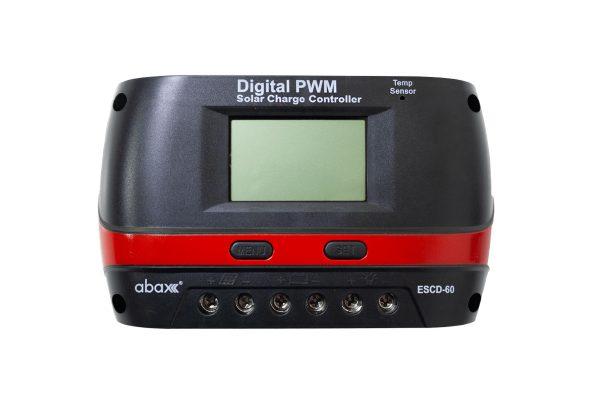 abax escd 60 60ah 12 24 volt lcd ekran pwm sarj kontrol cihazi