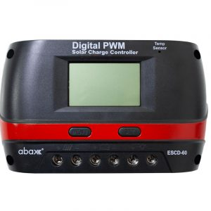 abax escd 60plus 60ah 12 24 volt lcd ekran pwm sarj kontrol cihazi