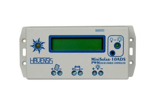havensis minisolar 10ads 10ah 12 24 volt lcd ekran pwm sarj kontrol cihazi 1