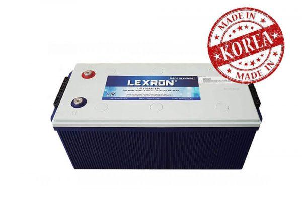 lexron 12 volt 100ah deepcycle solar jel aku