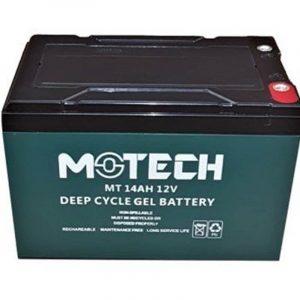 motech 12 volt 14ah solar jel aku