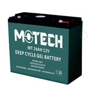 motech 24ah 12volt solar jel aku
