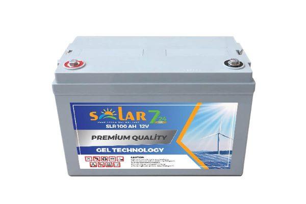 solar 7 24 12 volt 100ah jel aku