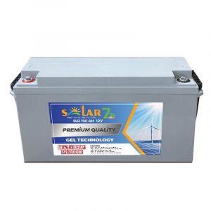 solar 7 24 12 volt 150ah jel aku