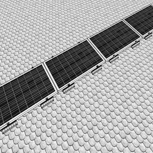 shingle tipi cati 4 gunes paneli yatay montaj kiti