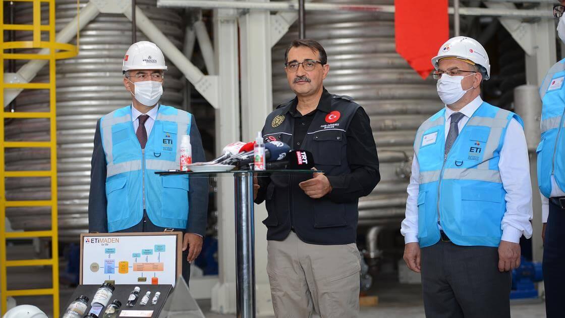 turkiye lityum pilot tesisi ile yillik 10ton uretim